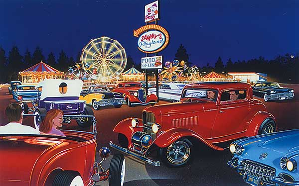 Automotive Art By Bruce Kaiser Hot Rod Art Home Page