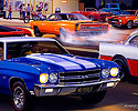 1970 LS6 Chevelle, 1970 Torino Cobra Jet, 1955 Chevy Gasser, 1969 Dodge Super Bee Burnout, AMX, Street Racing, Cruising