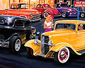 Heidt's 2005 Catalog Cover Art, 1932 Ford 3 Window, 69 Camaro Convertible