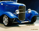 1932 Ford 3-Window chopped coupe, candy apple blue