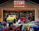 Heidt's Hot Rod catalog cover painting 2001