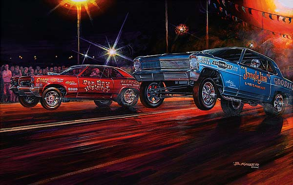 Muscle Car Limited Edition Art Prints By Bruce Kaiser