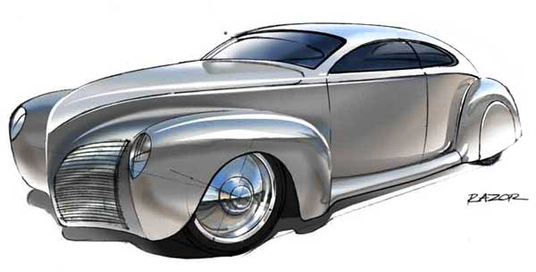 1939 Lincoln Zephyr Concept Art