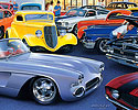 Master Power Brakes car show poster painting