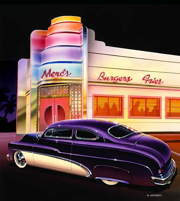 Paintings Of 1950s Cars And Trucks Bruce Kaiser Car Art