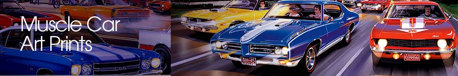 Muscle Car Art, Prints, Woodward Avenue, Paintings of muscle cars, Automotive Art