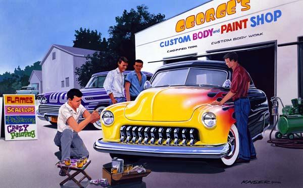 Custom Car Paint Job Designs Custom Scallop Paint Job