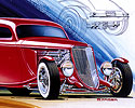 Concept Art, Drawing, 1933 Ford Coupe