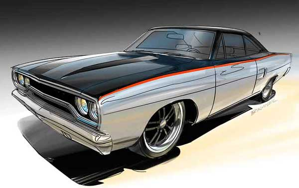 1970 Road Runner Concept Art
