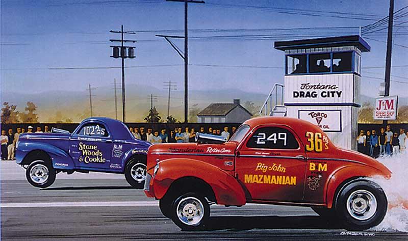 Drag Racing And Car Show Art