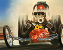 Bruce kaiser Hot Rod Art, Top Fuel Dragster Rail