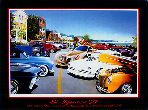 hot rod art prints. St. Ignace 97 Hot Rod Print